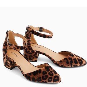 NWT TORRID WIDE Velvet Leopard D'Orsay Block Heel